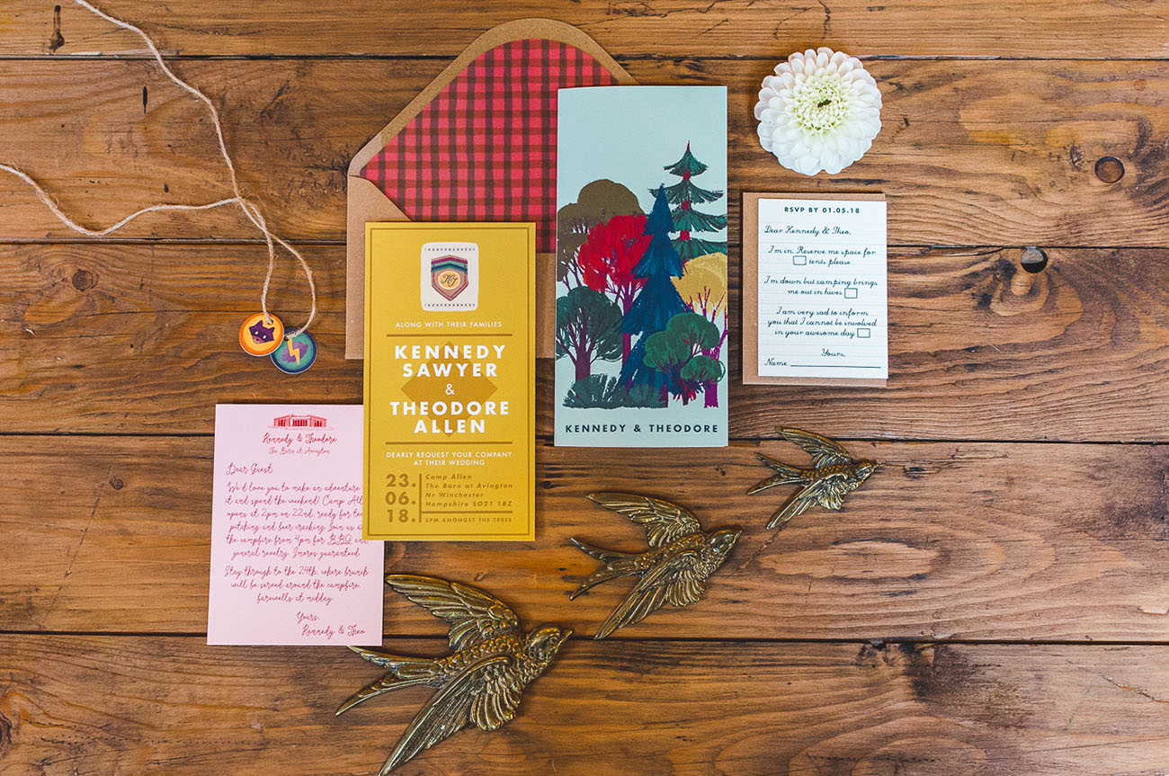 Wes Anderson Inspired Invitation
