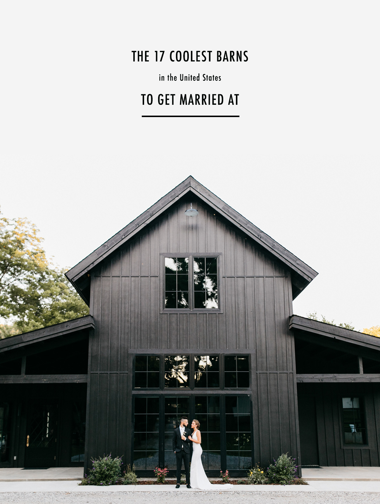 Coolest Barns in the US For Your Wedding
