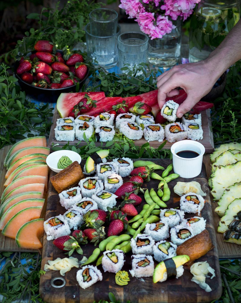 sushi grazing table