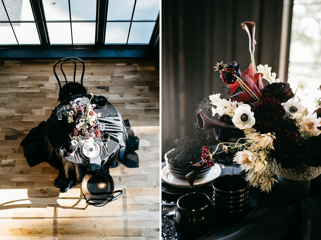 Black Barn Wedding Inspiration