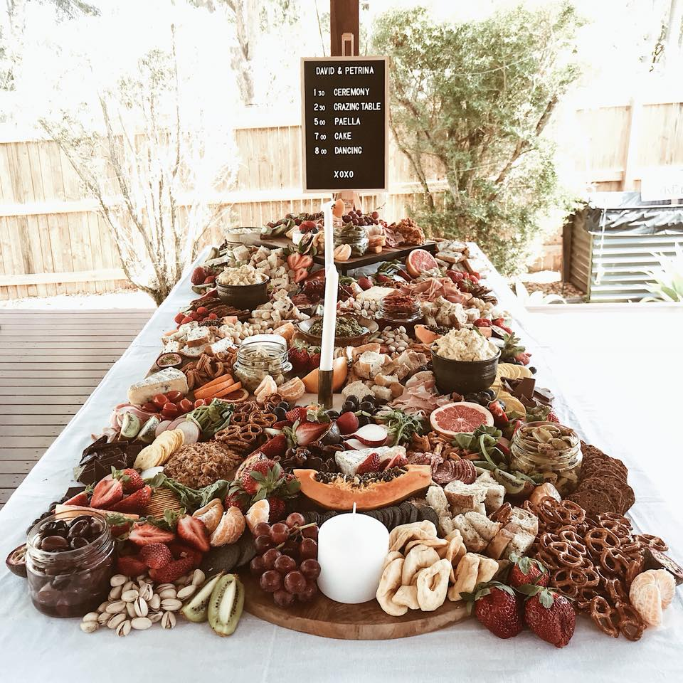 grazing tables for weddings
