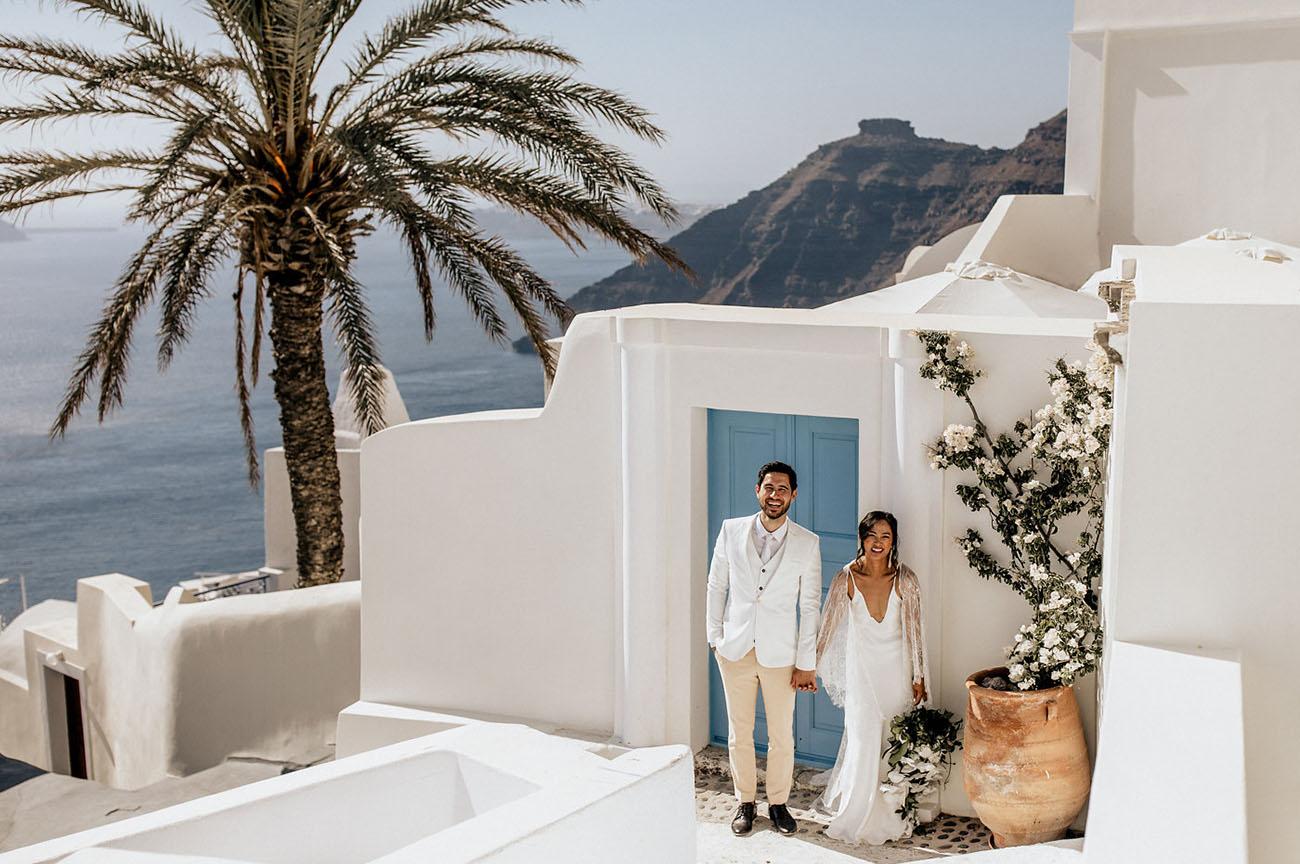 Santorini Greece Elopement