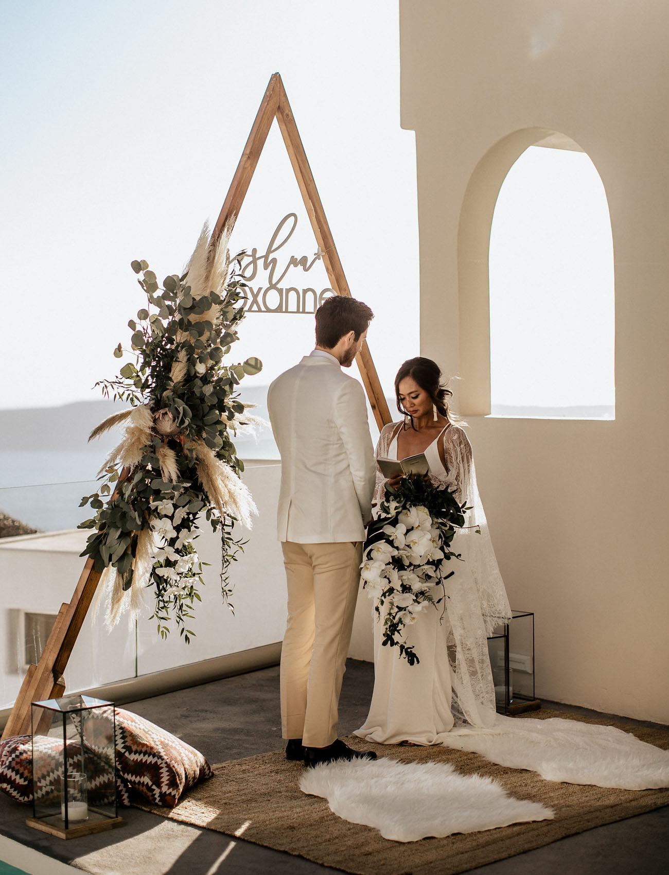 Santorini Greece Elopement