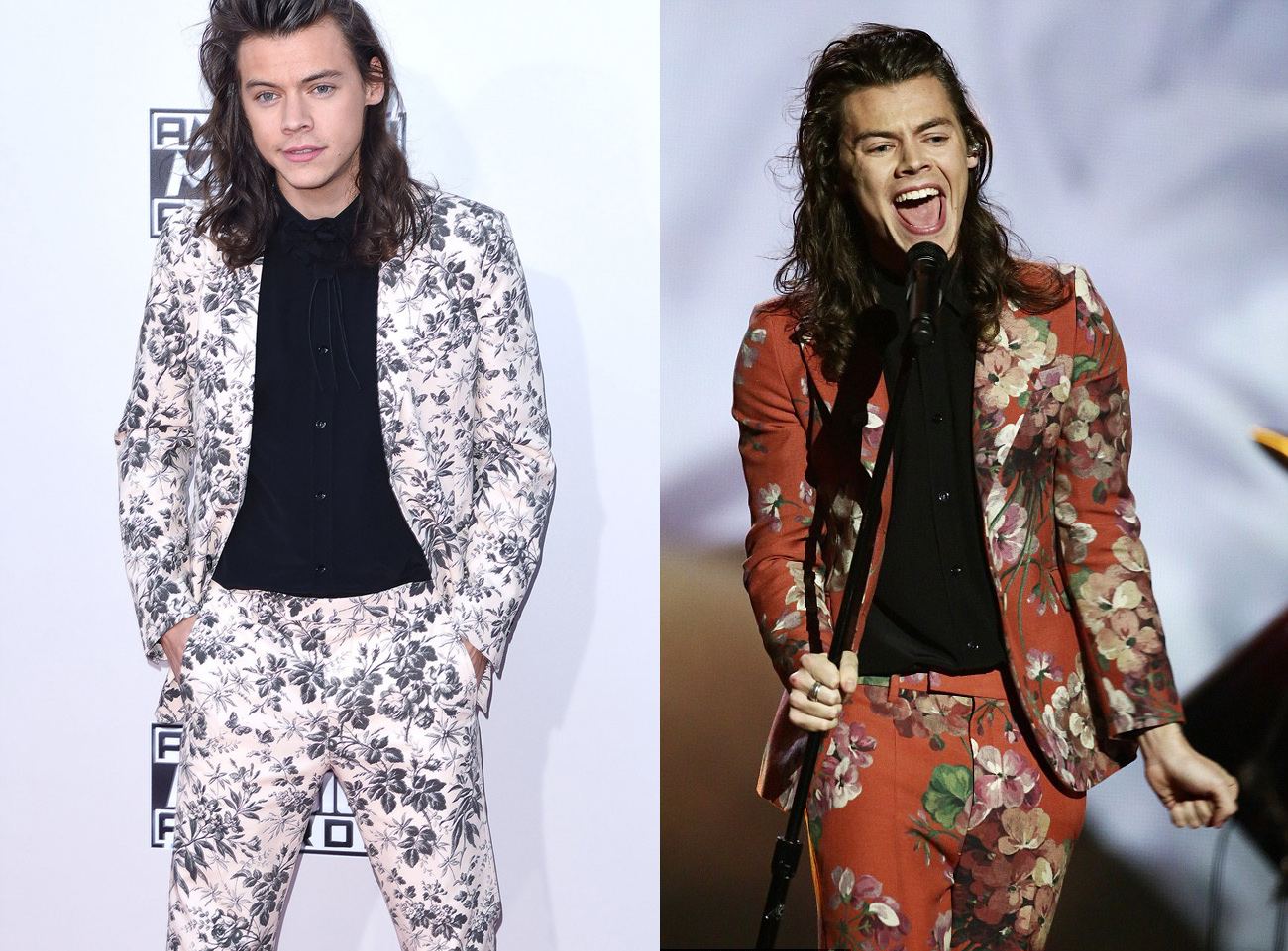 Harry Styles in a Floral Suit