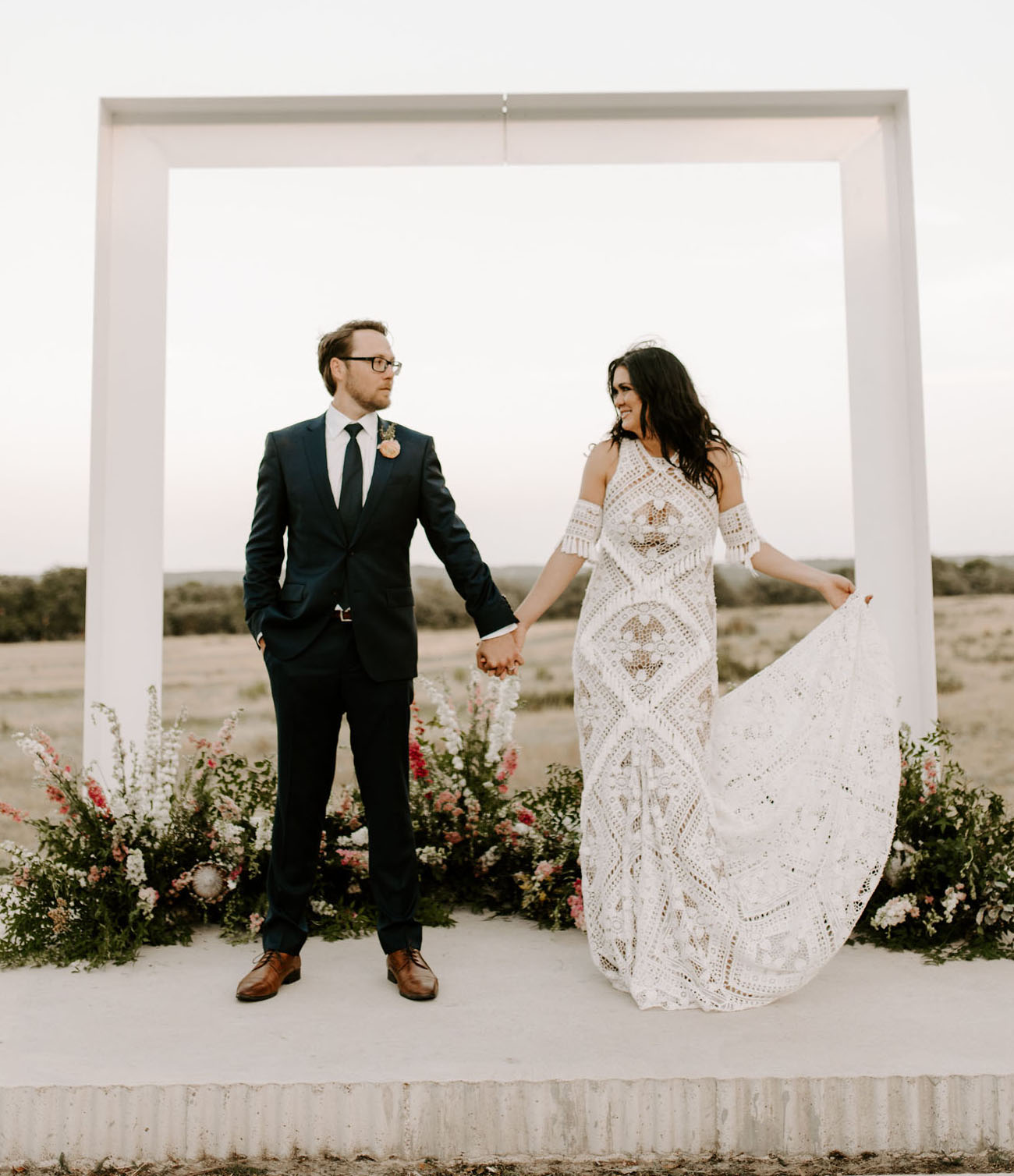Be Still Our Bohemian Hearts?It?s an Ombre-Filled Coachella-Inspired Festival Wedding!