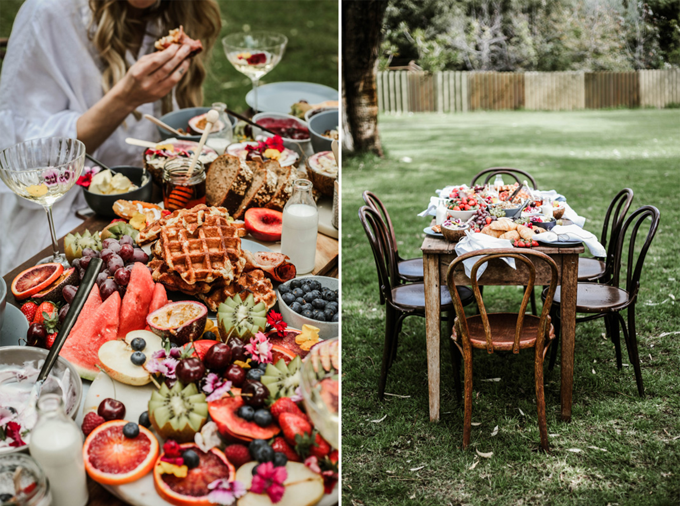 brunch grazing table