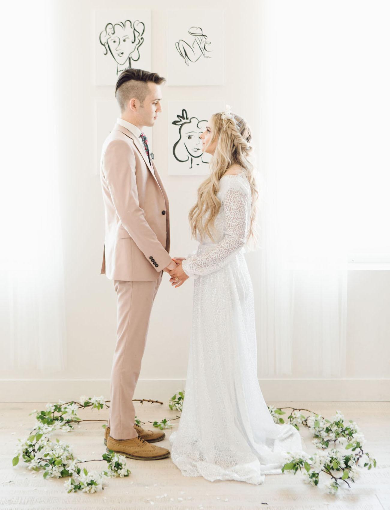 Minimalist Loft Wedding