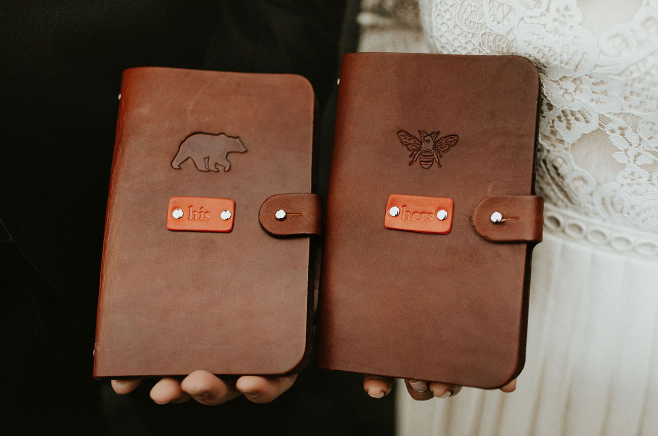 leather vow books