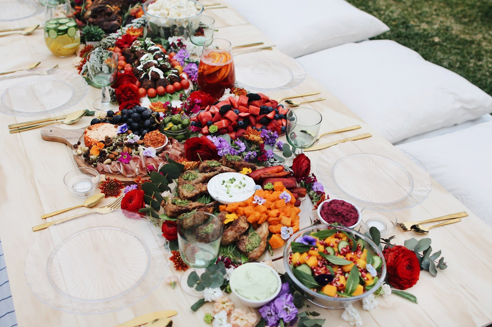 outdoor party grazing table