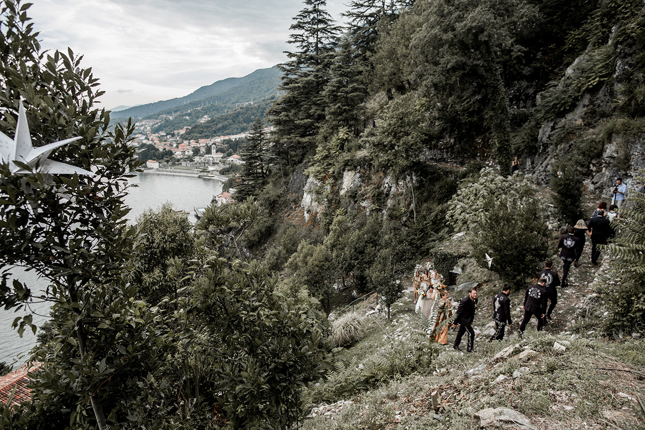 Magical Walk to a Lake Como Wedding