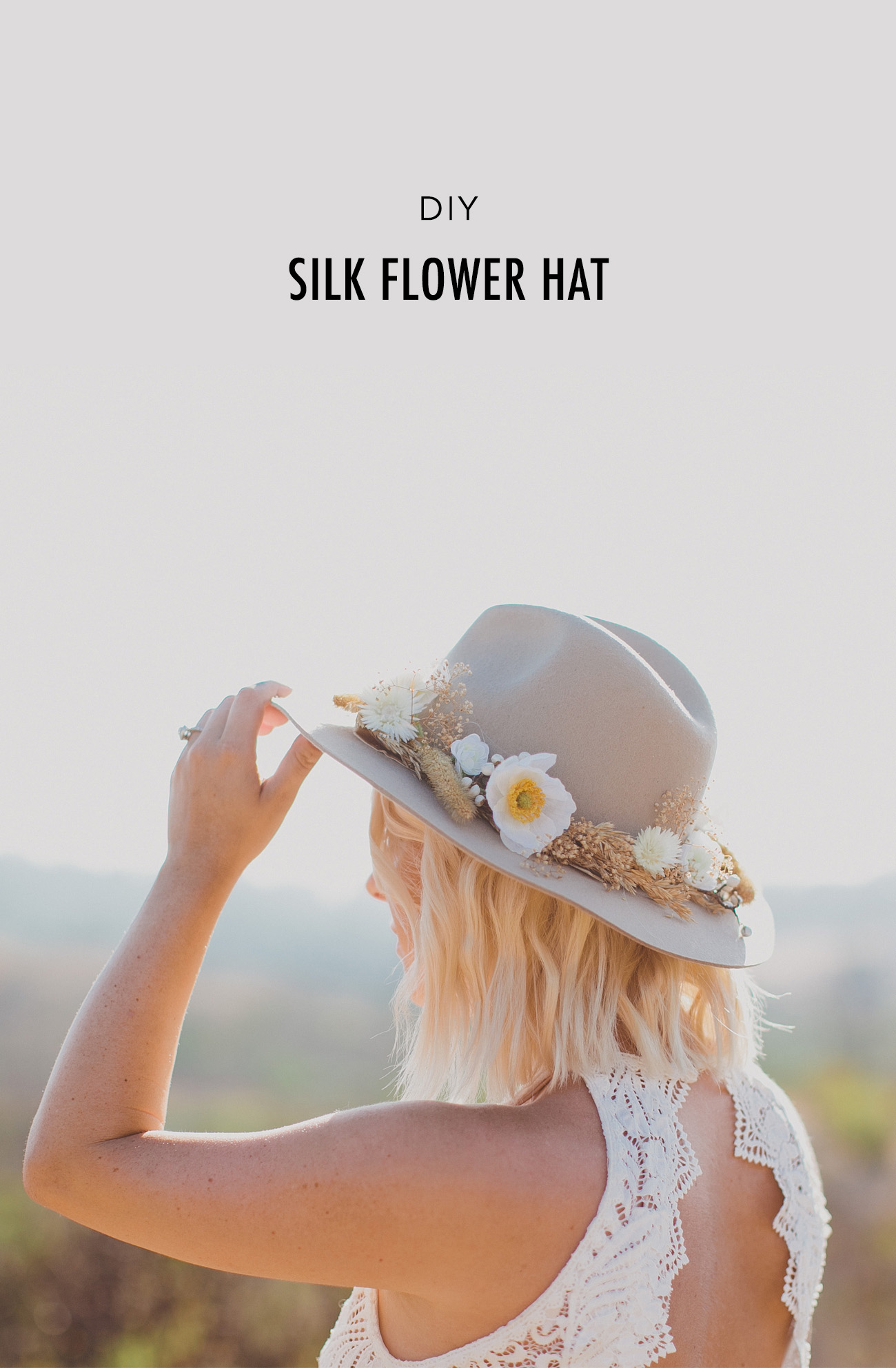DIY Silk Flower Hat