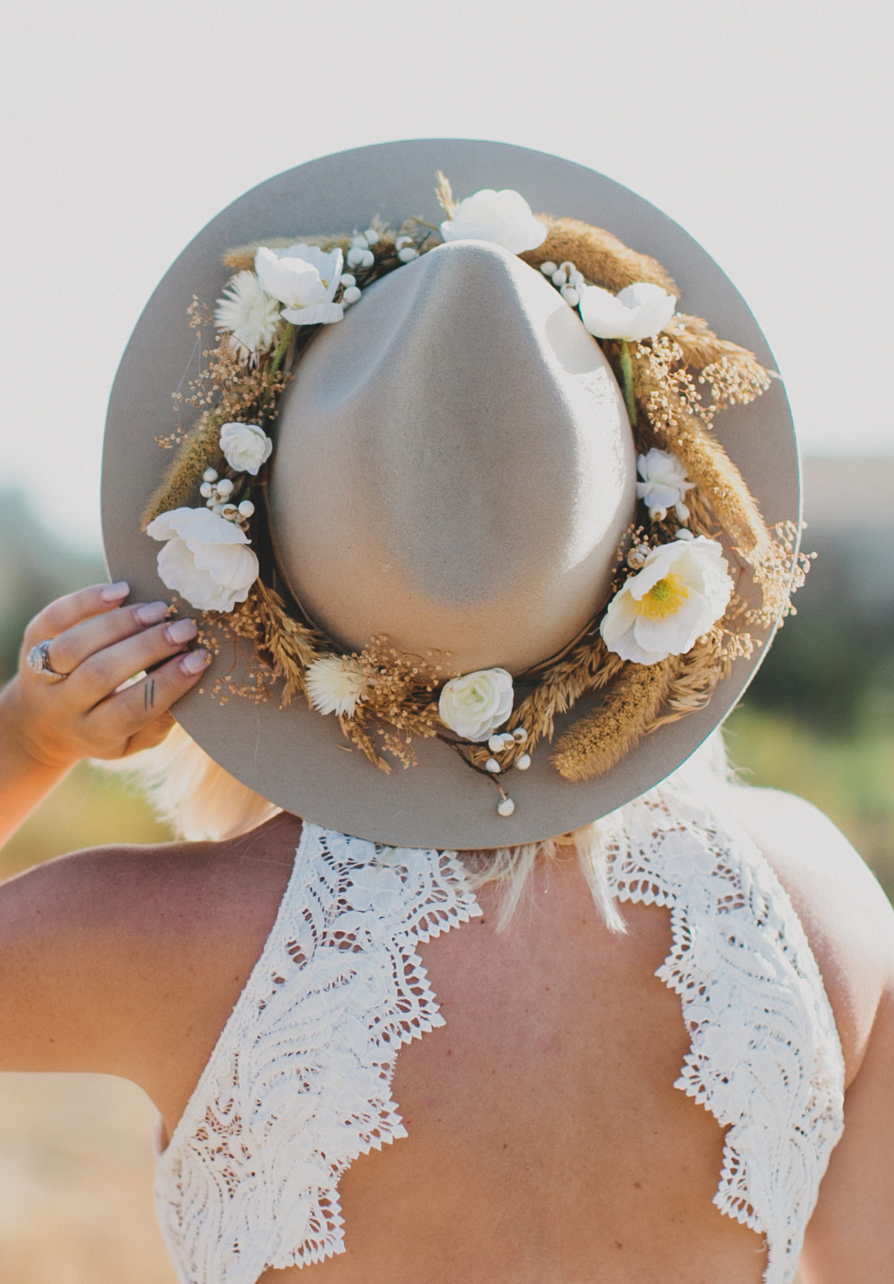 DIY Silk Floral Hat