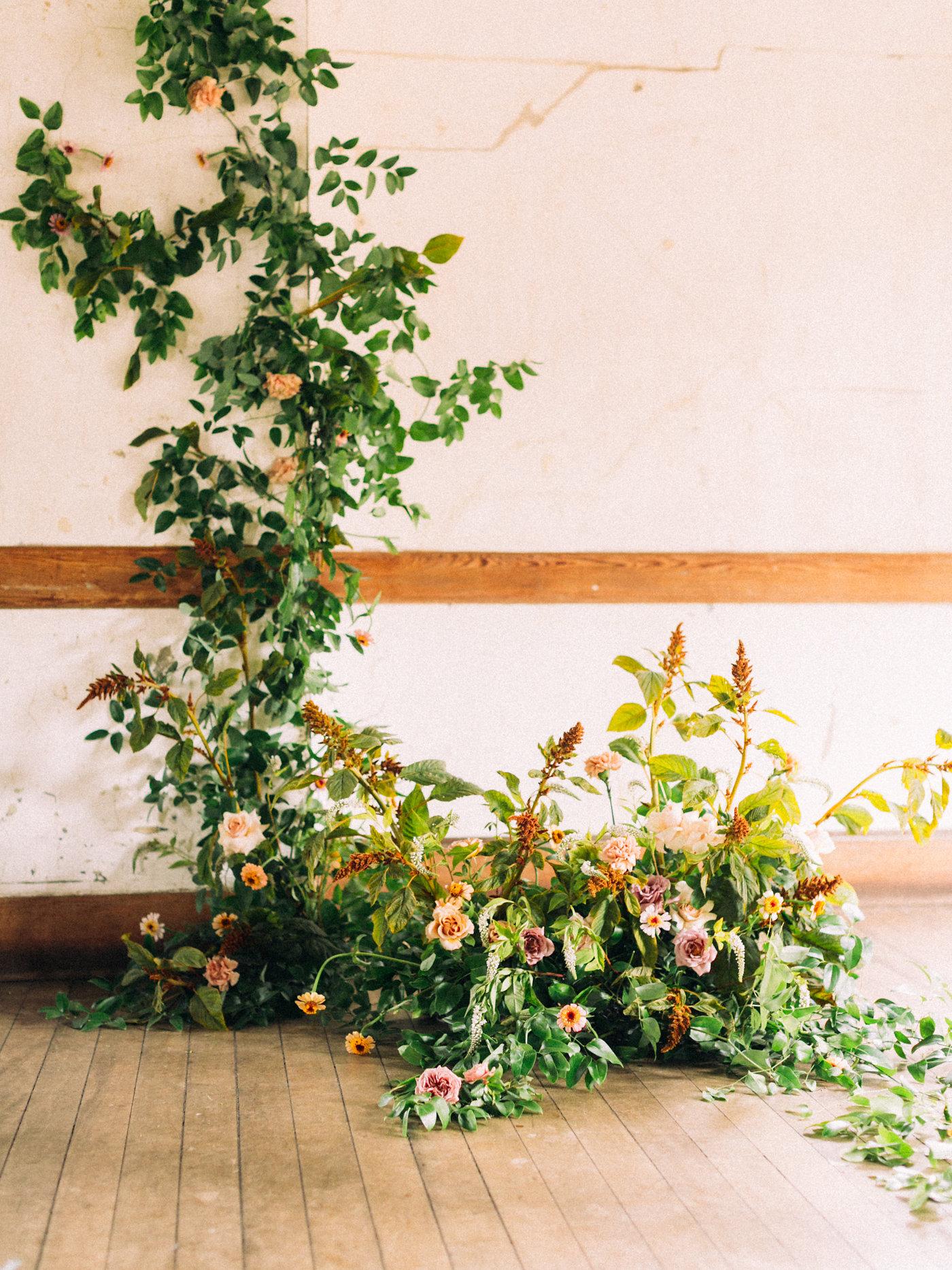 climbing floral backdrop