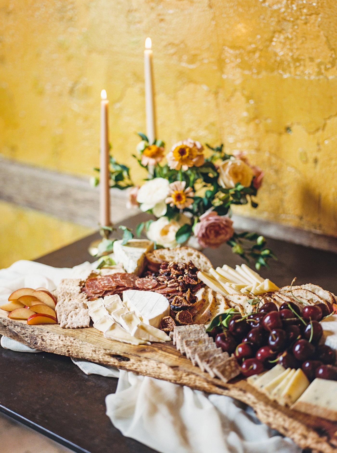 reception cheese board