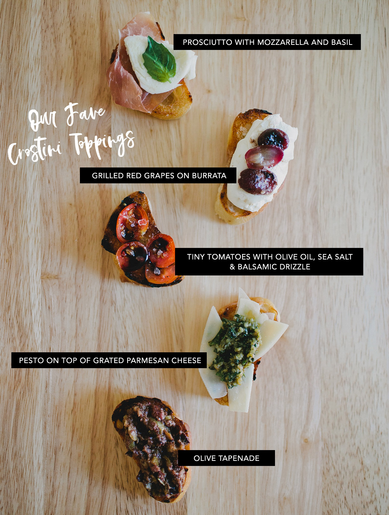 crostini toppings