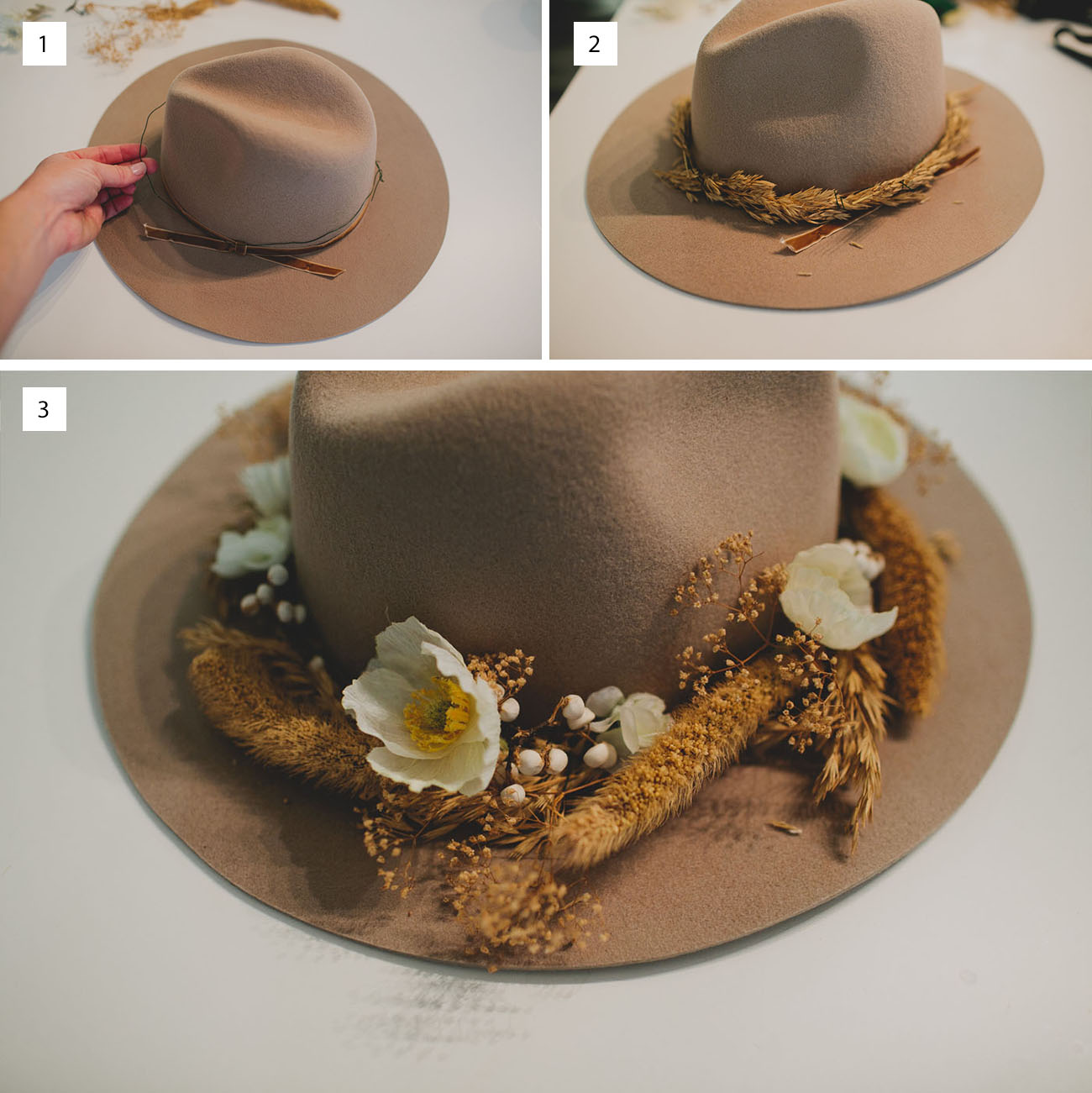DIY Flower Hat (with afloral)