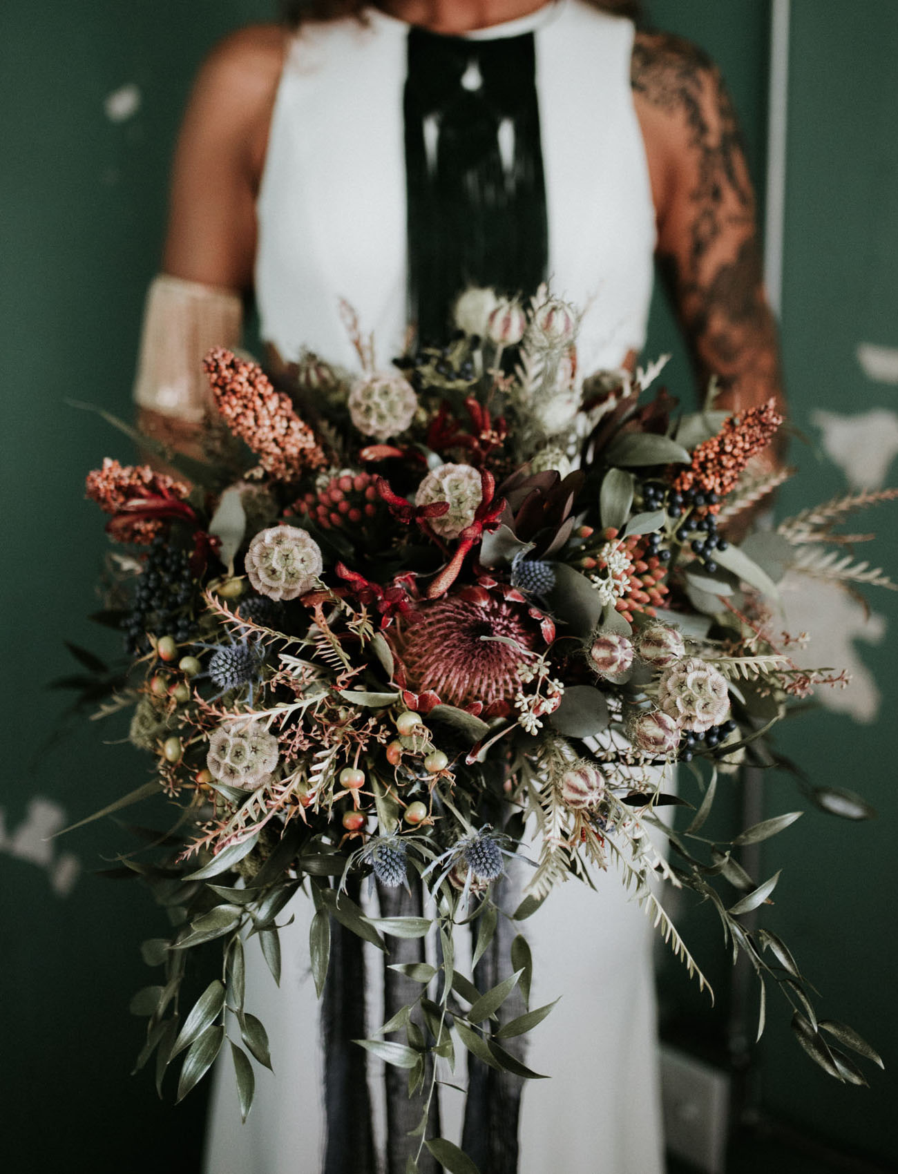 boho fall bouquet