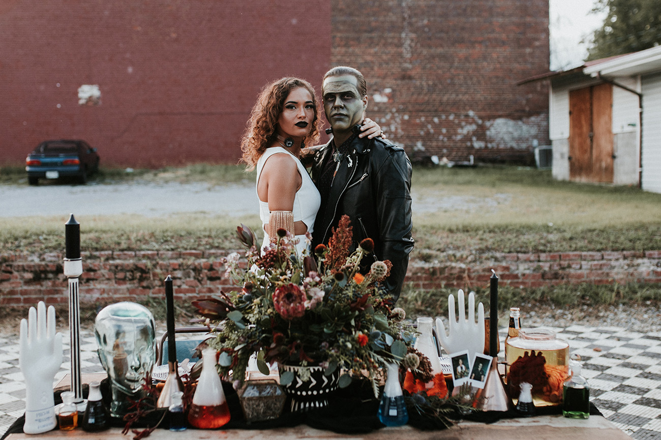 frankenstein and his bride wedding