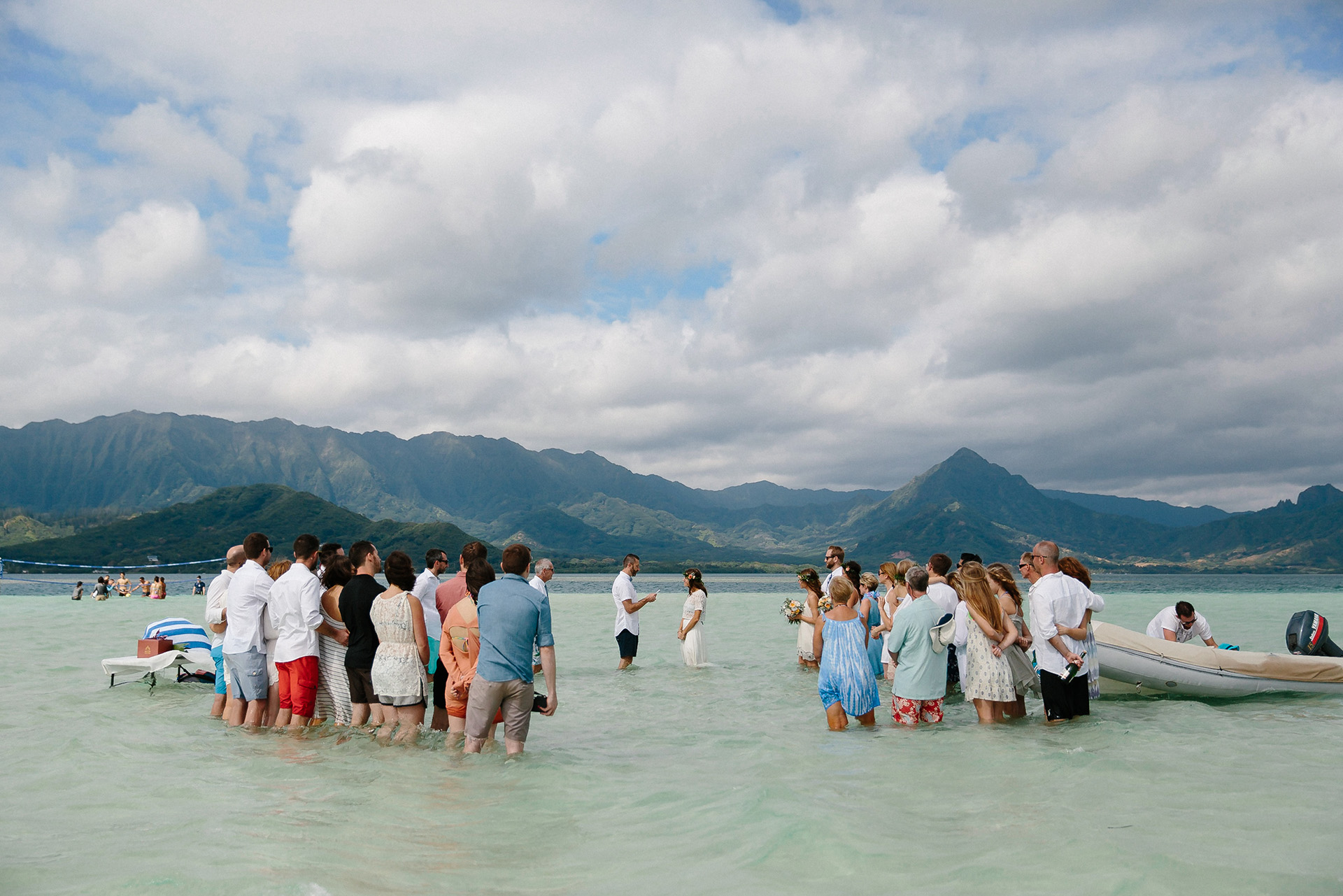 Intimate Sandbar Wedding in Hawaii