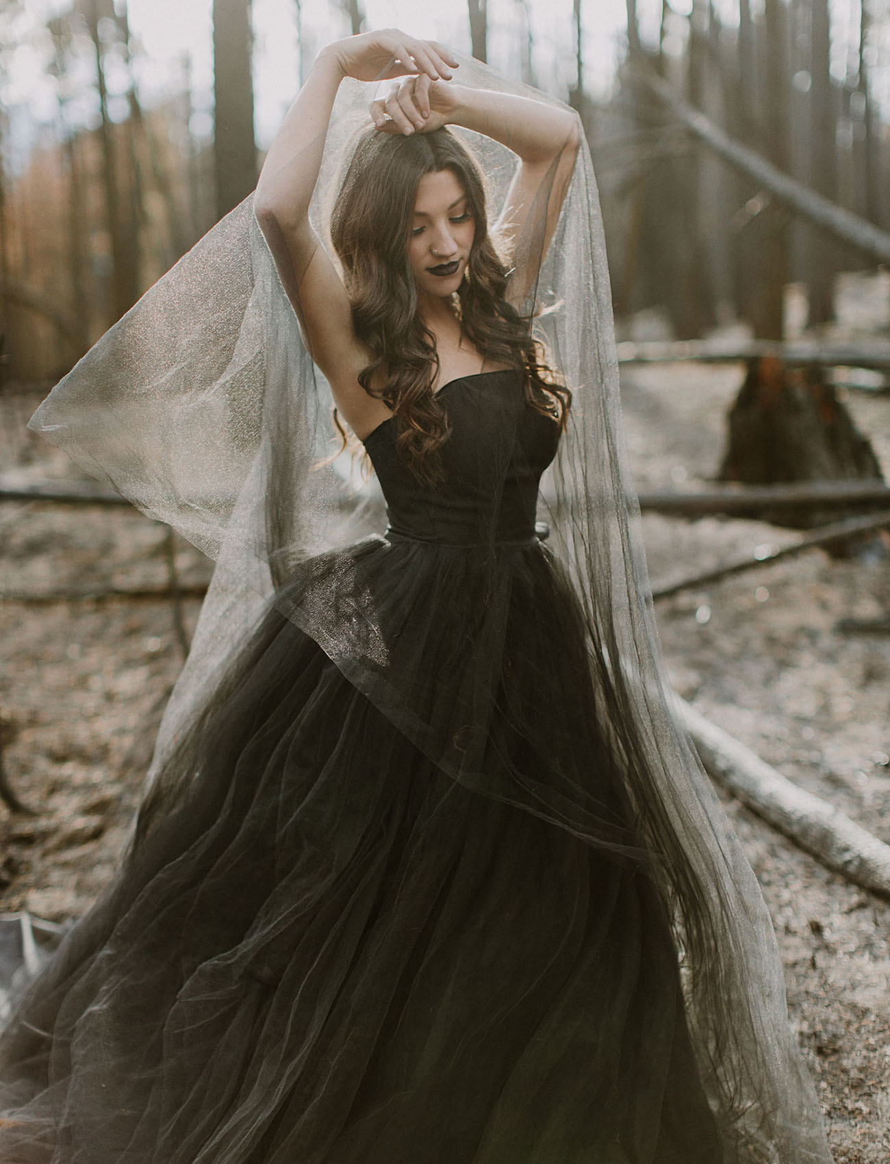 b8d681131c Paint It Black... Our Favorite Black Wedding Dresses! - Green ...