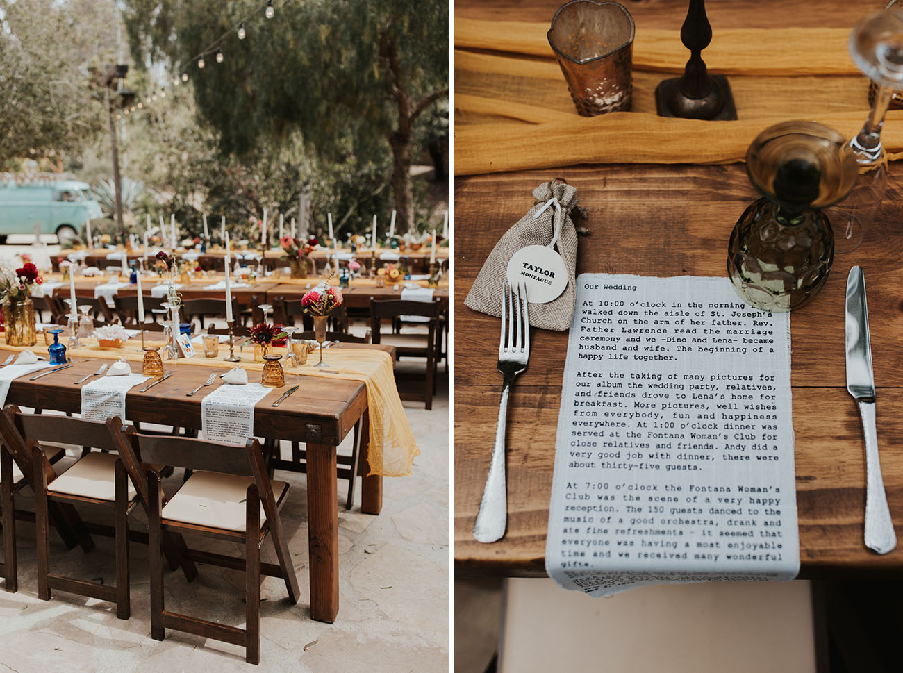 Rustic Carlsbad Wedding