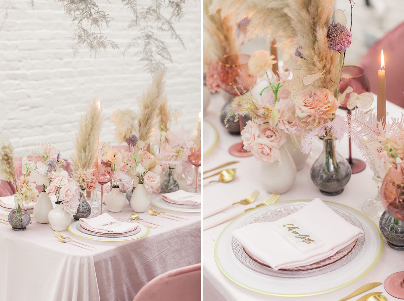Rose Colored Wedding Inspiration