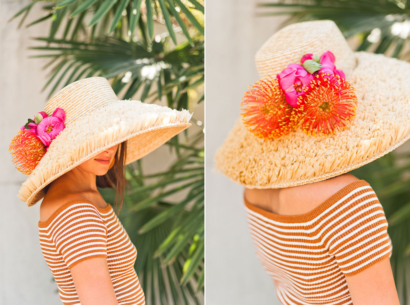 floral hats are the new flower crowns