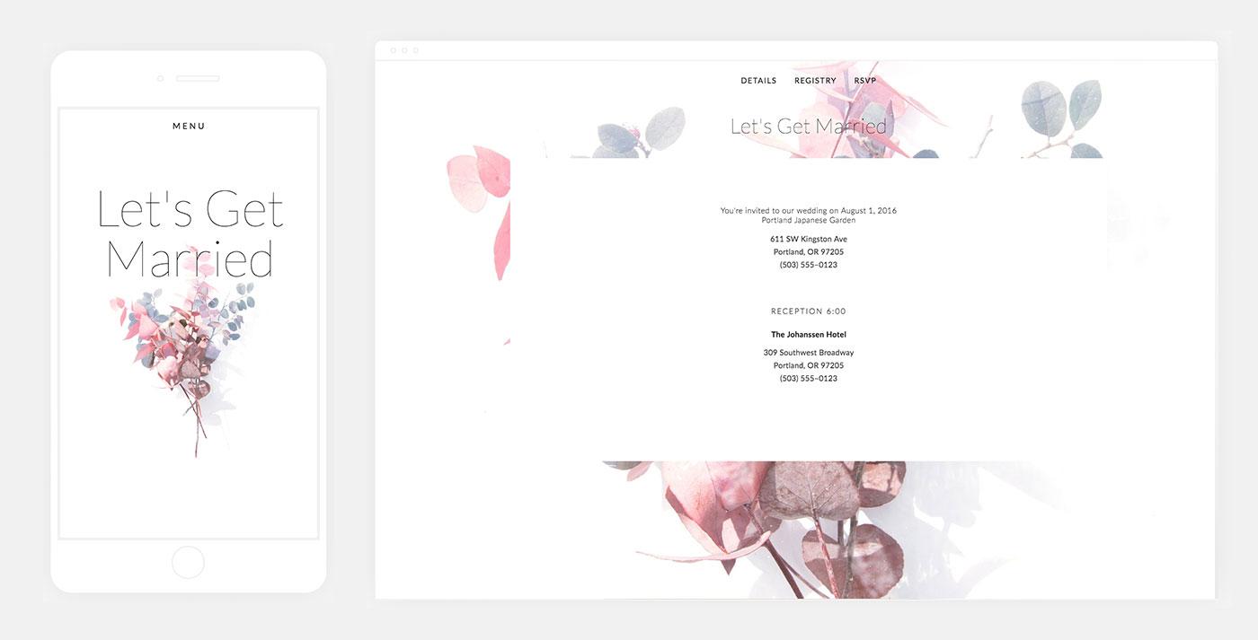 Aubrey Squarespace Wedding Website Template