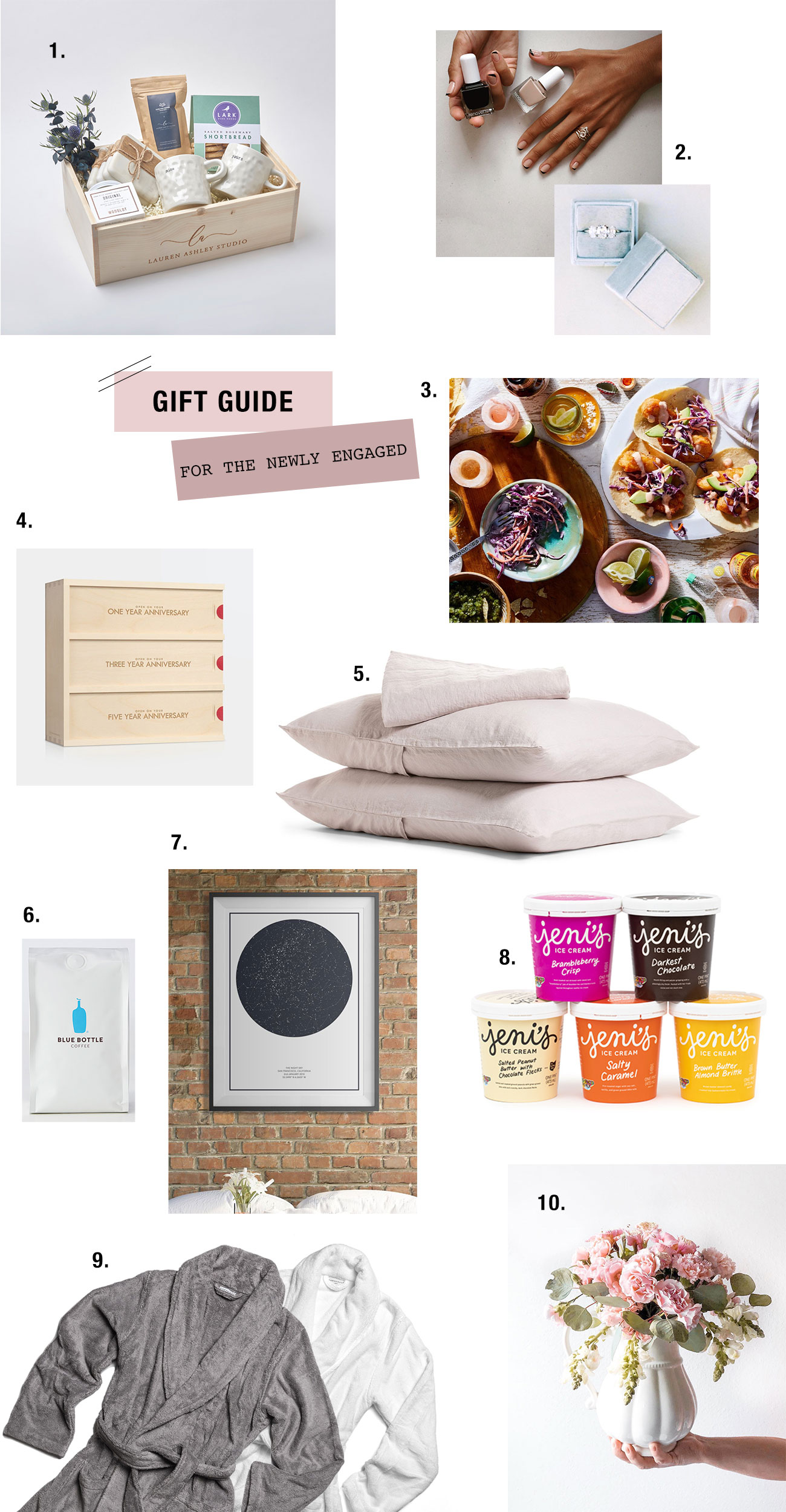 Gift Guide 2018 Newly Engaged