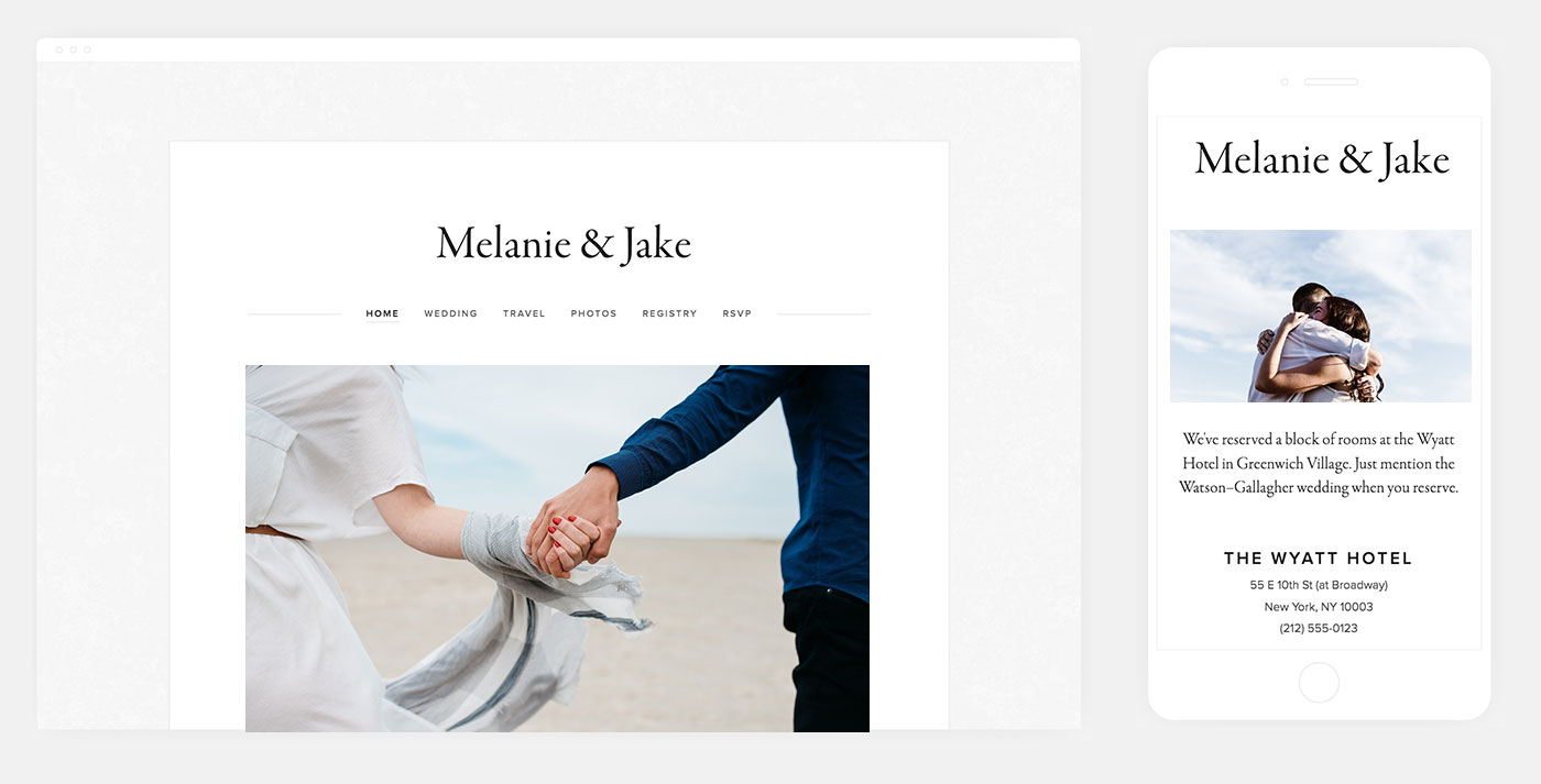 Julia Squarespace Wedding Website Template
