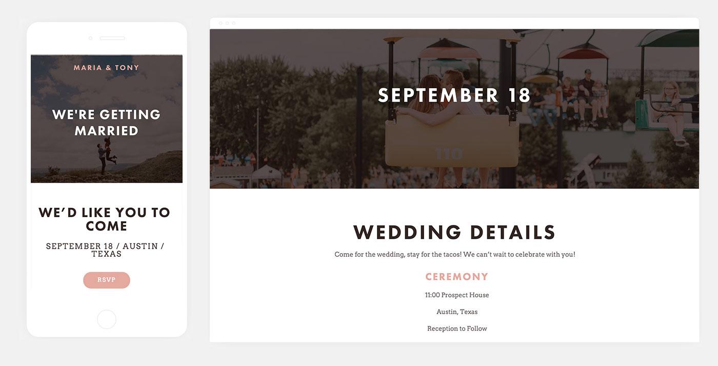 Naomi Squarespace Wedding Website Template