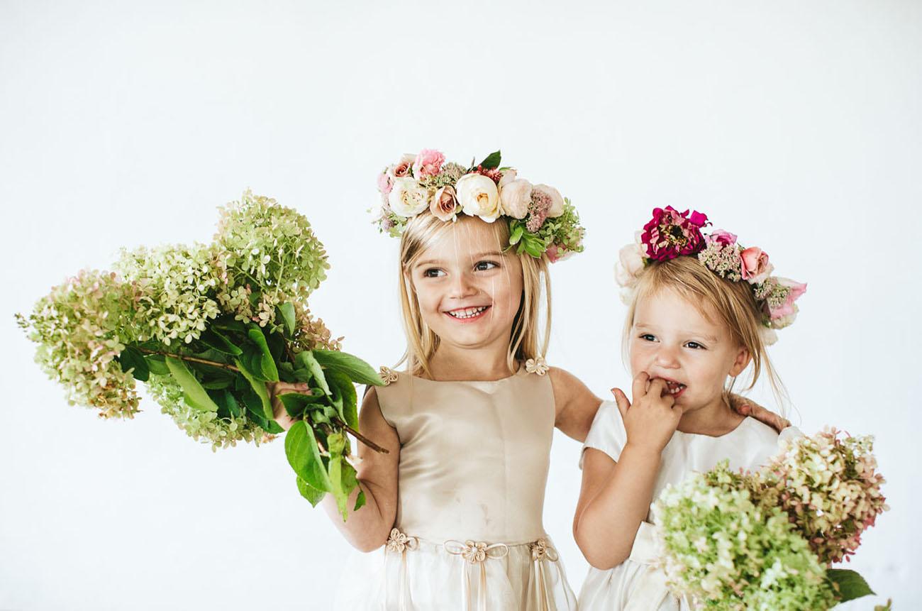 flower girl flower crowns