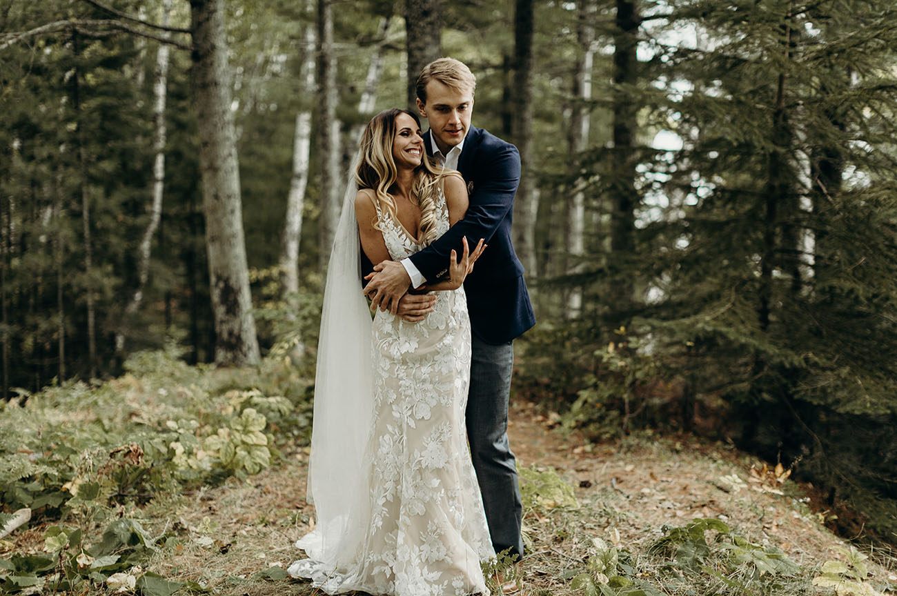 Intimate Island Elopement on Lake Superior