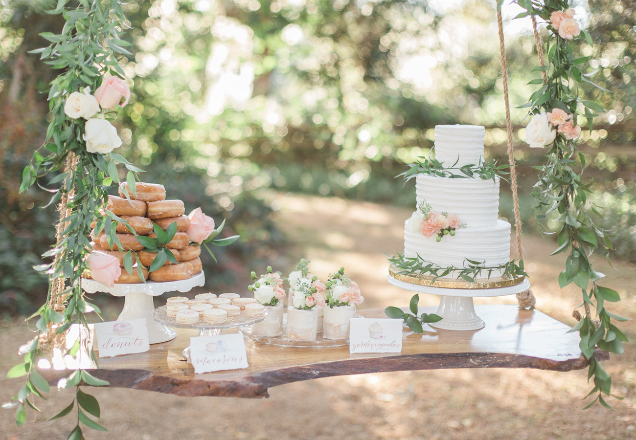 cake dessert table swing
