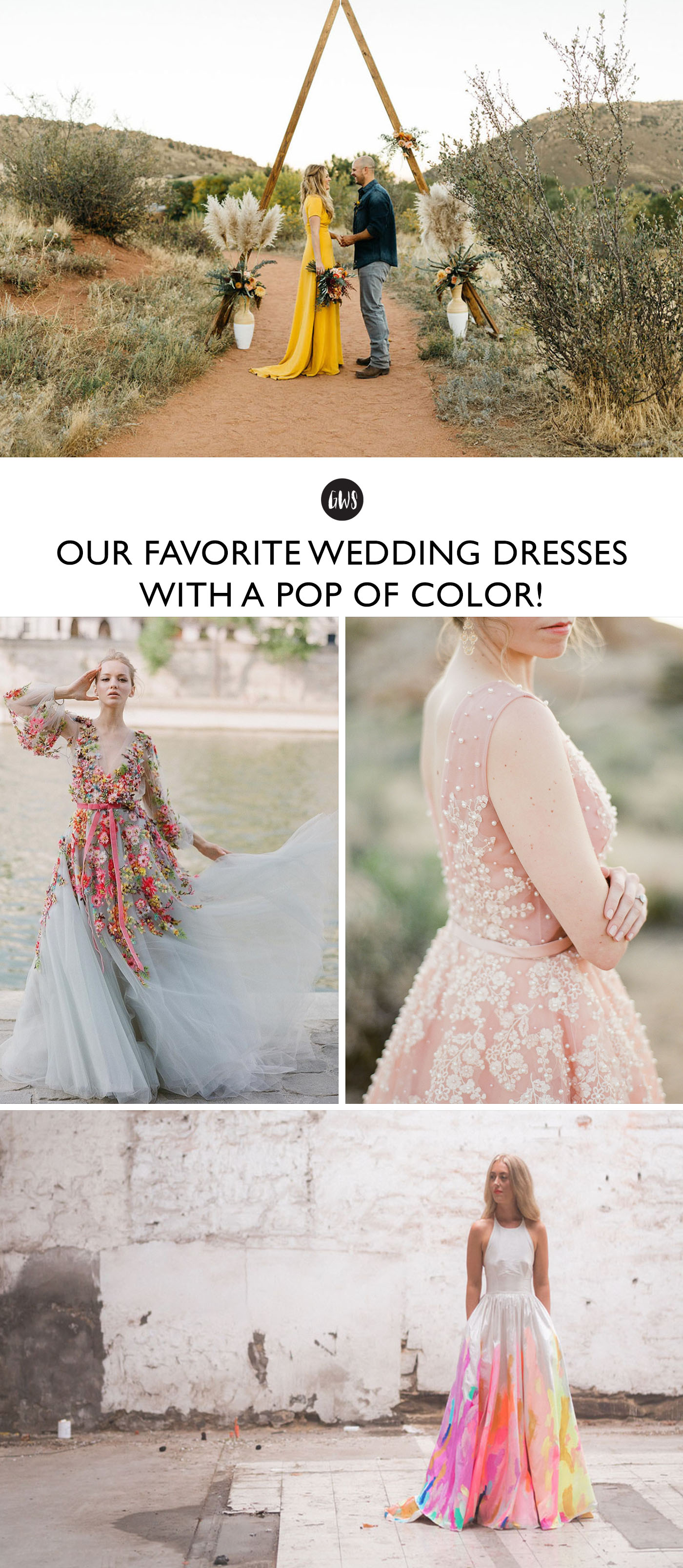 Pop Wedding Dress.Our Favorite Wedding Dresses With A Pop Of Color Green Wedding Shoes