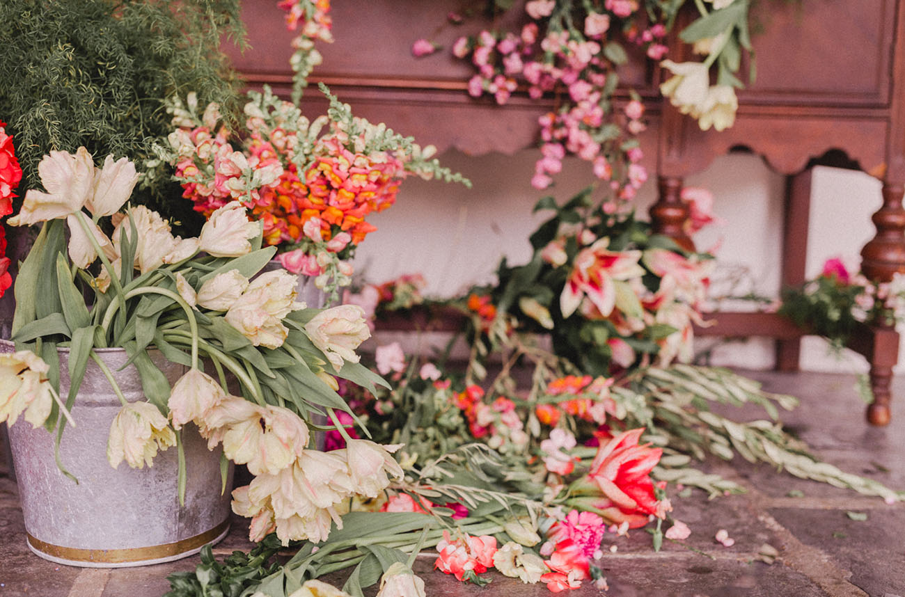 Dior Meets Flower Market Wedding Inspiration