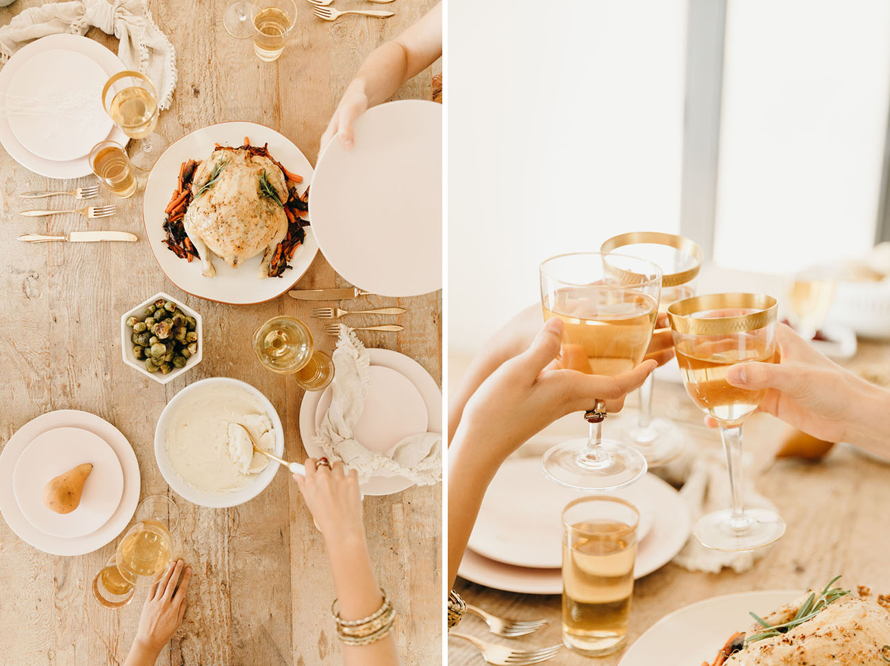 Friendsgiving Styled Tablescape