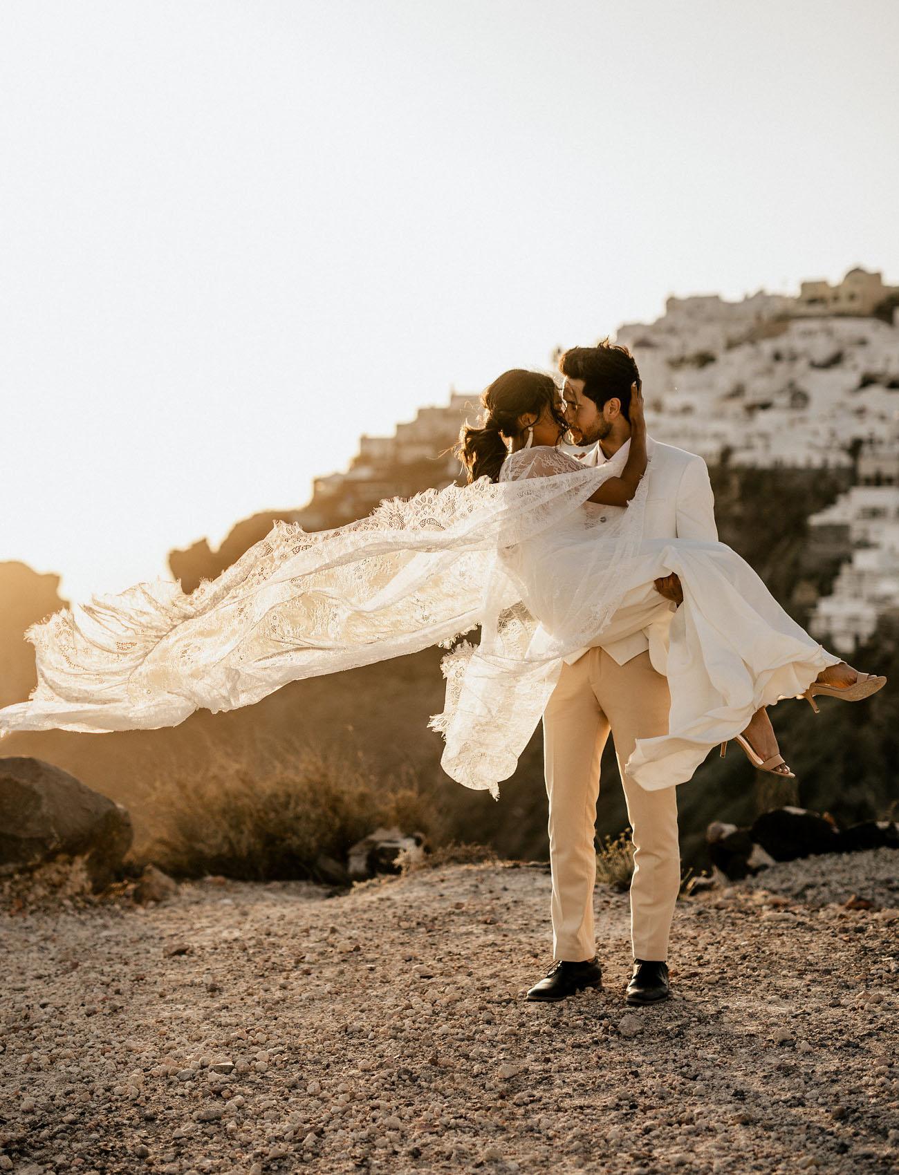 greece adventure elopement