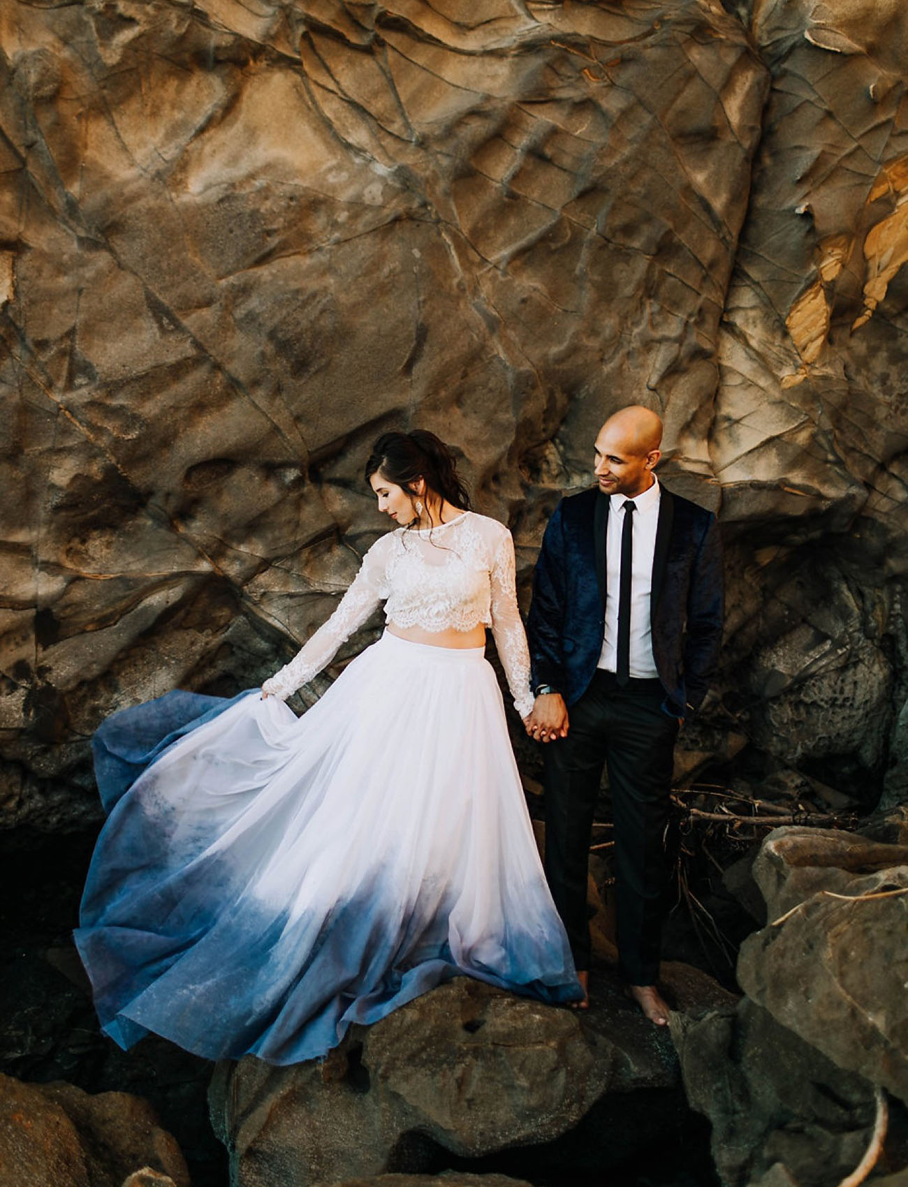 Our Favorite Wedding Dresses With A Pop Of Color Green Wedding Shoes,Low Back Ball Gown Wedding Dress
