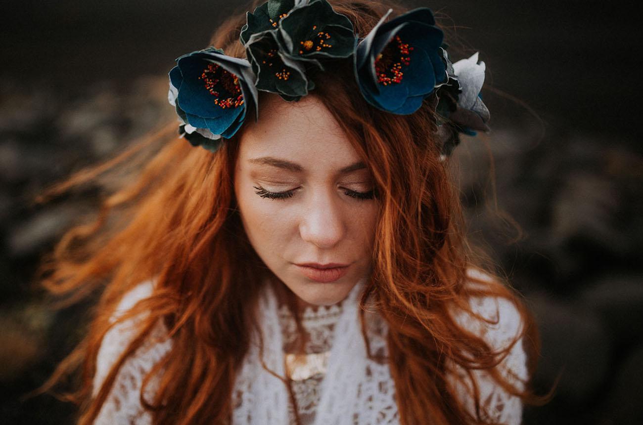 faux floral hairpiece