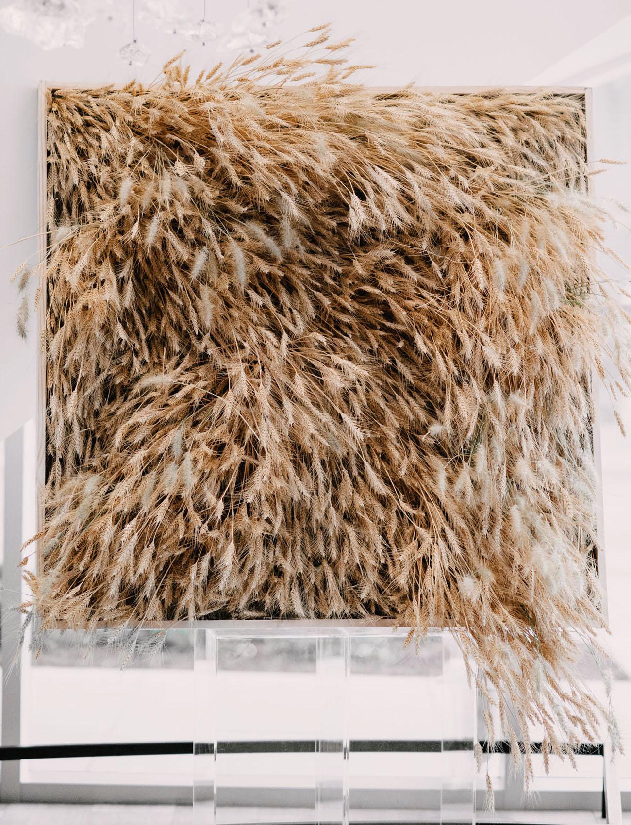 wheat ceremony backdrop