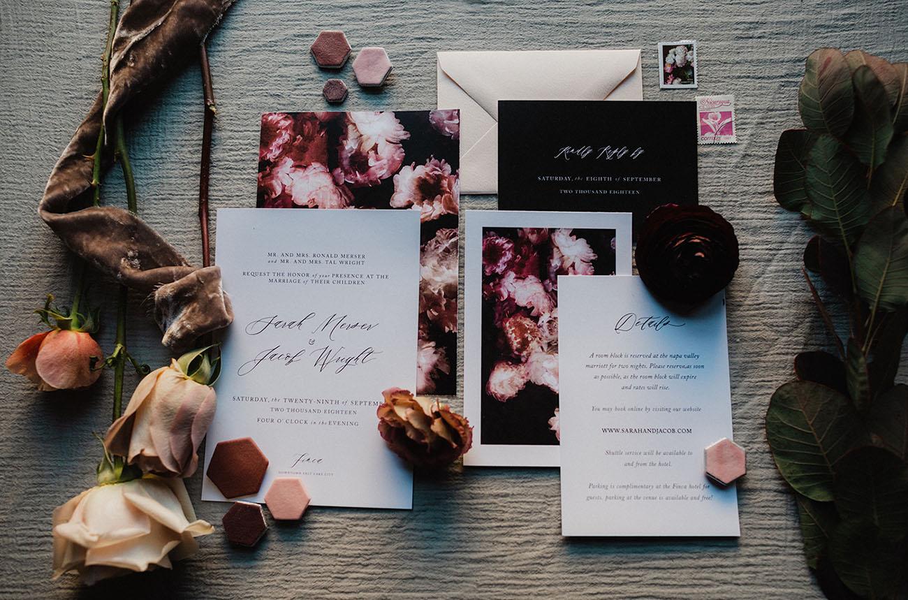 Moody Mauve Fall Wedding Inspiration