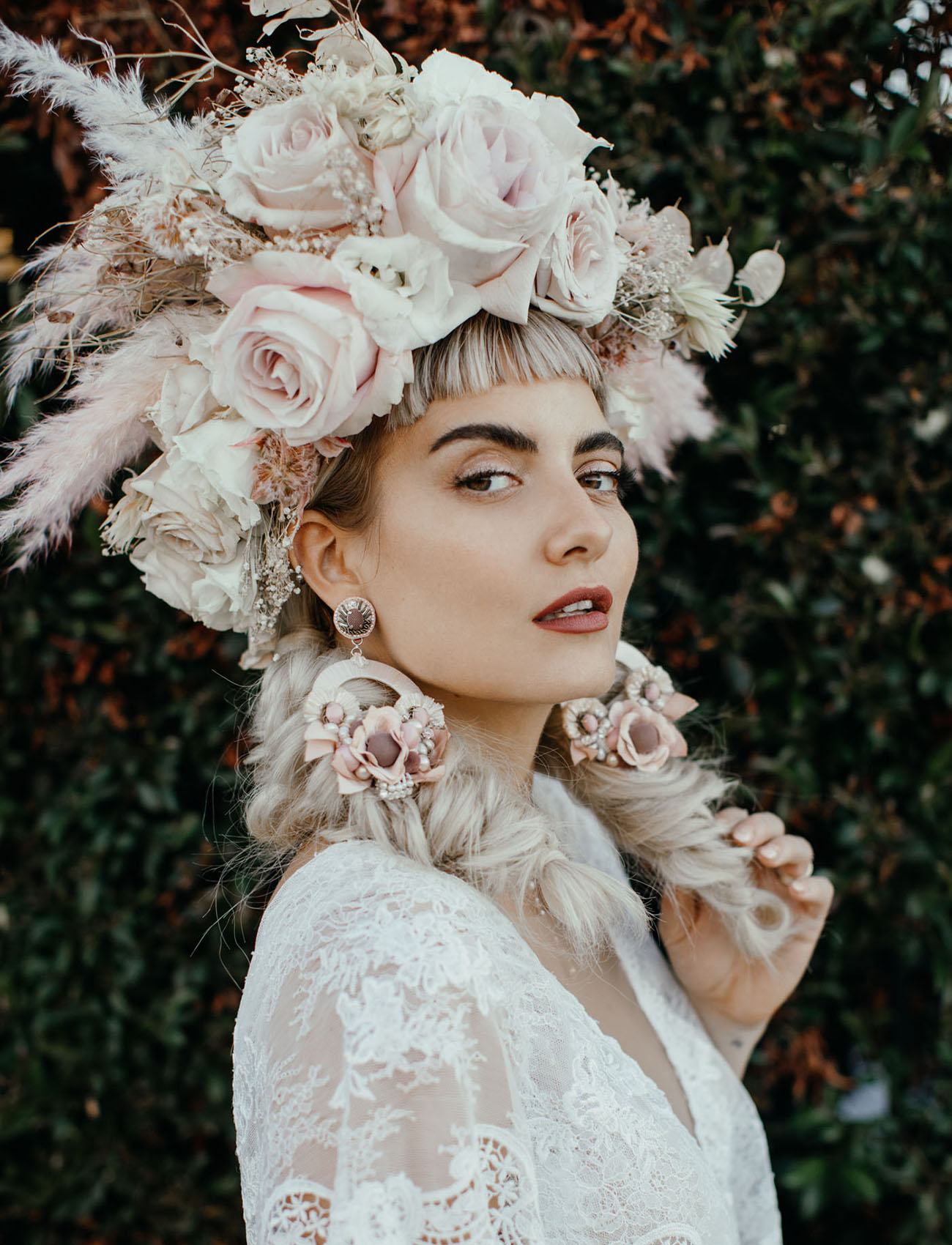 Marie Antoinette Inspired Floral Hair Piece