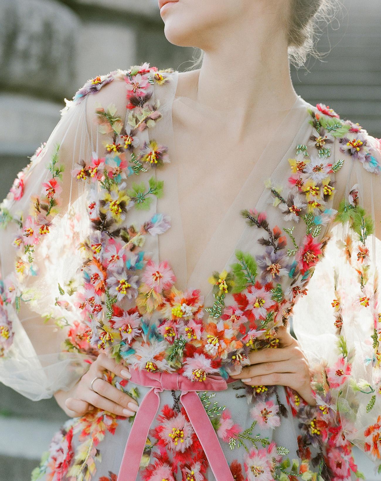 Colorful Wedding Dress by Marchesa