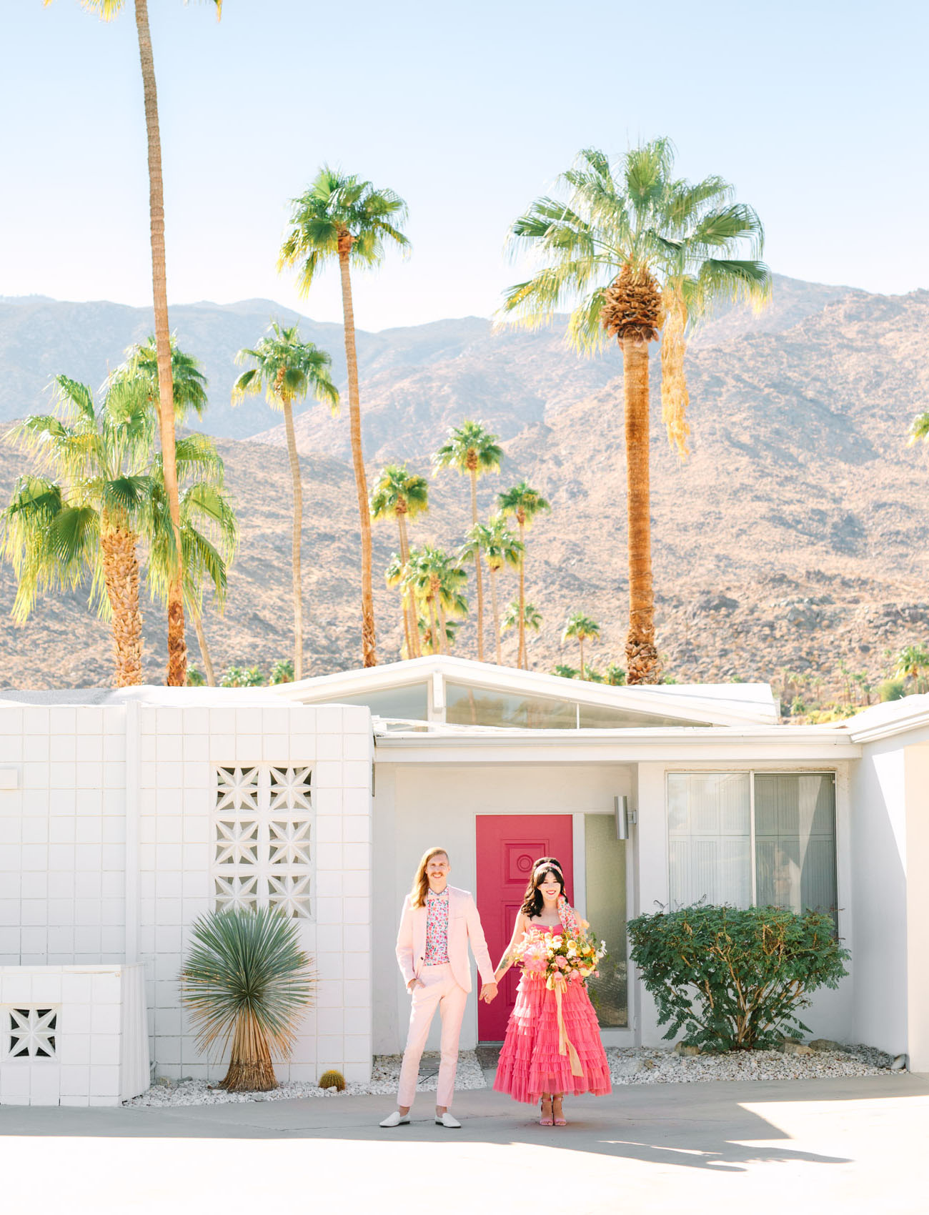 Pink Cadillac Palm Springs Elopement