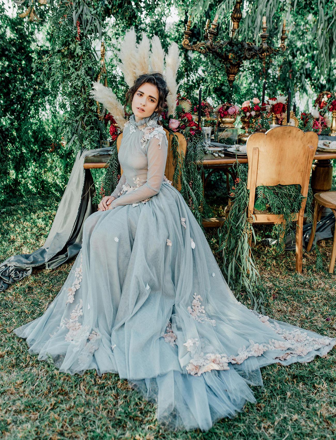 Secret Garden: Our Favorite Wedding Dresses With A Pop Of Color!