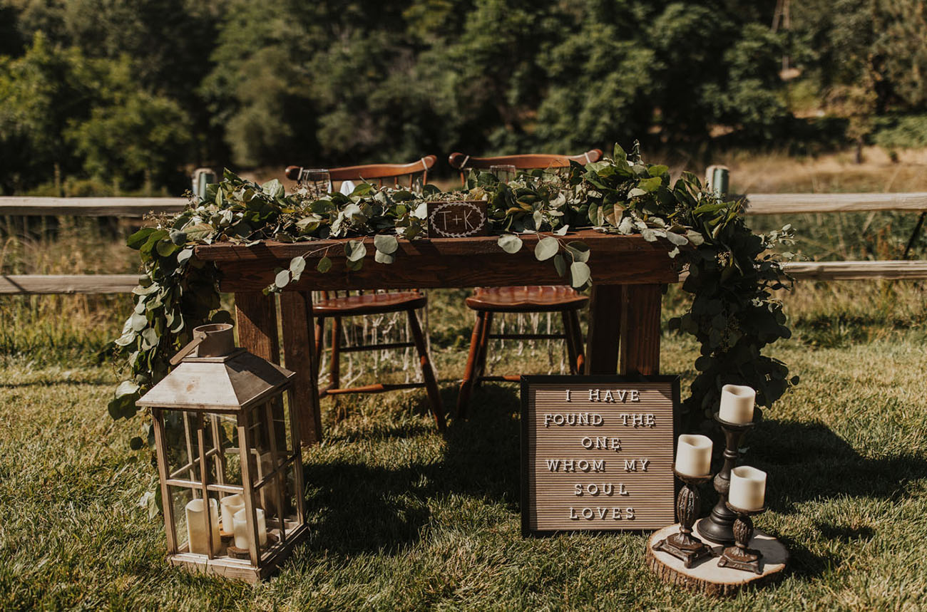 Woodsy Boho Palomar Mountain Wedding
