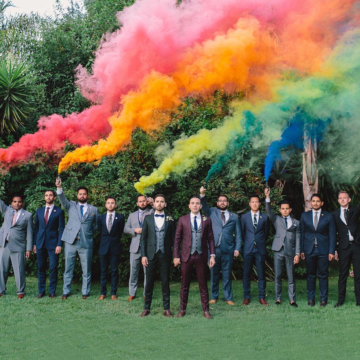 rainbow smoke bombs