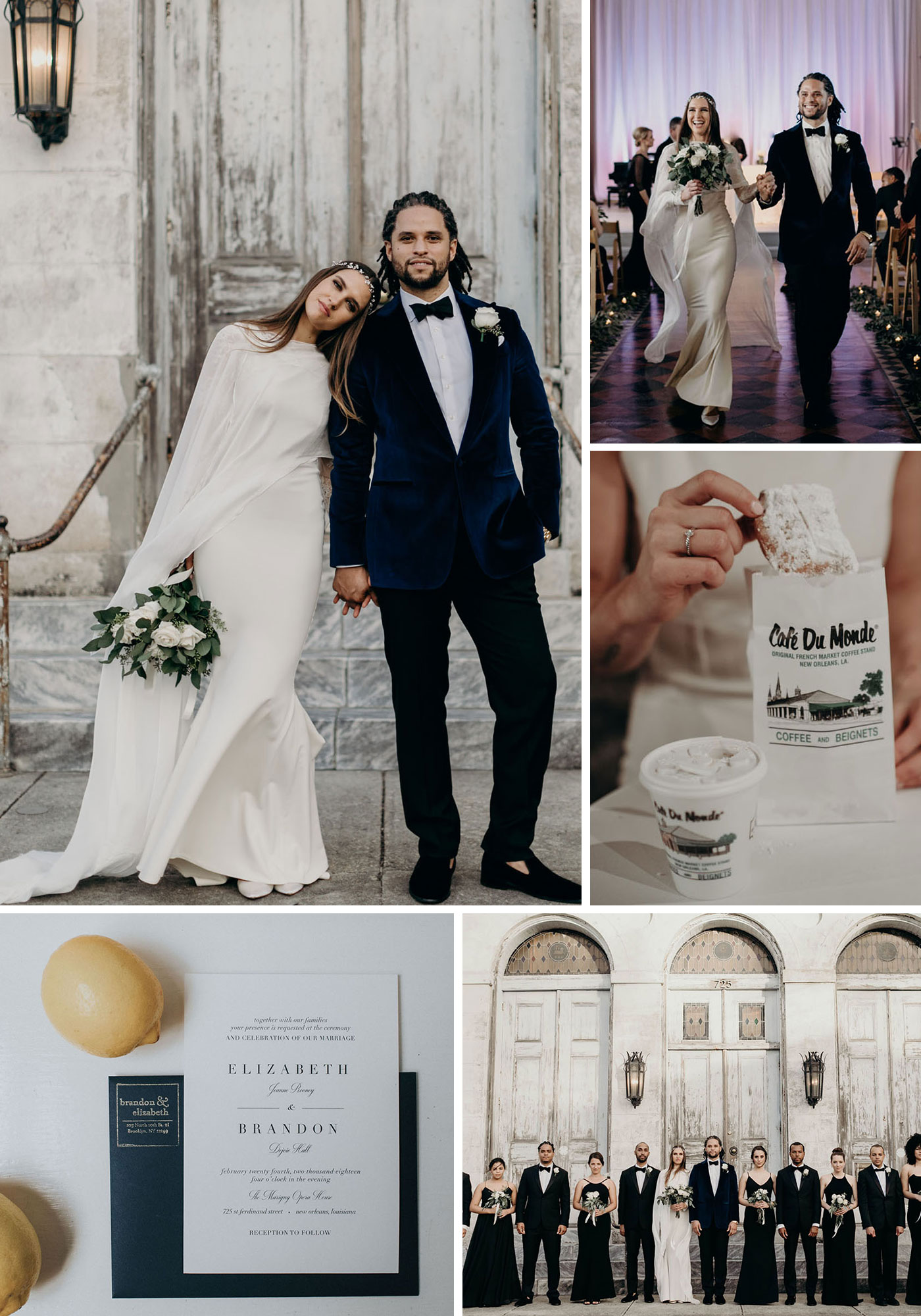 Handmade New Orleans Wedding in a 19th Century Converted Church