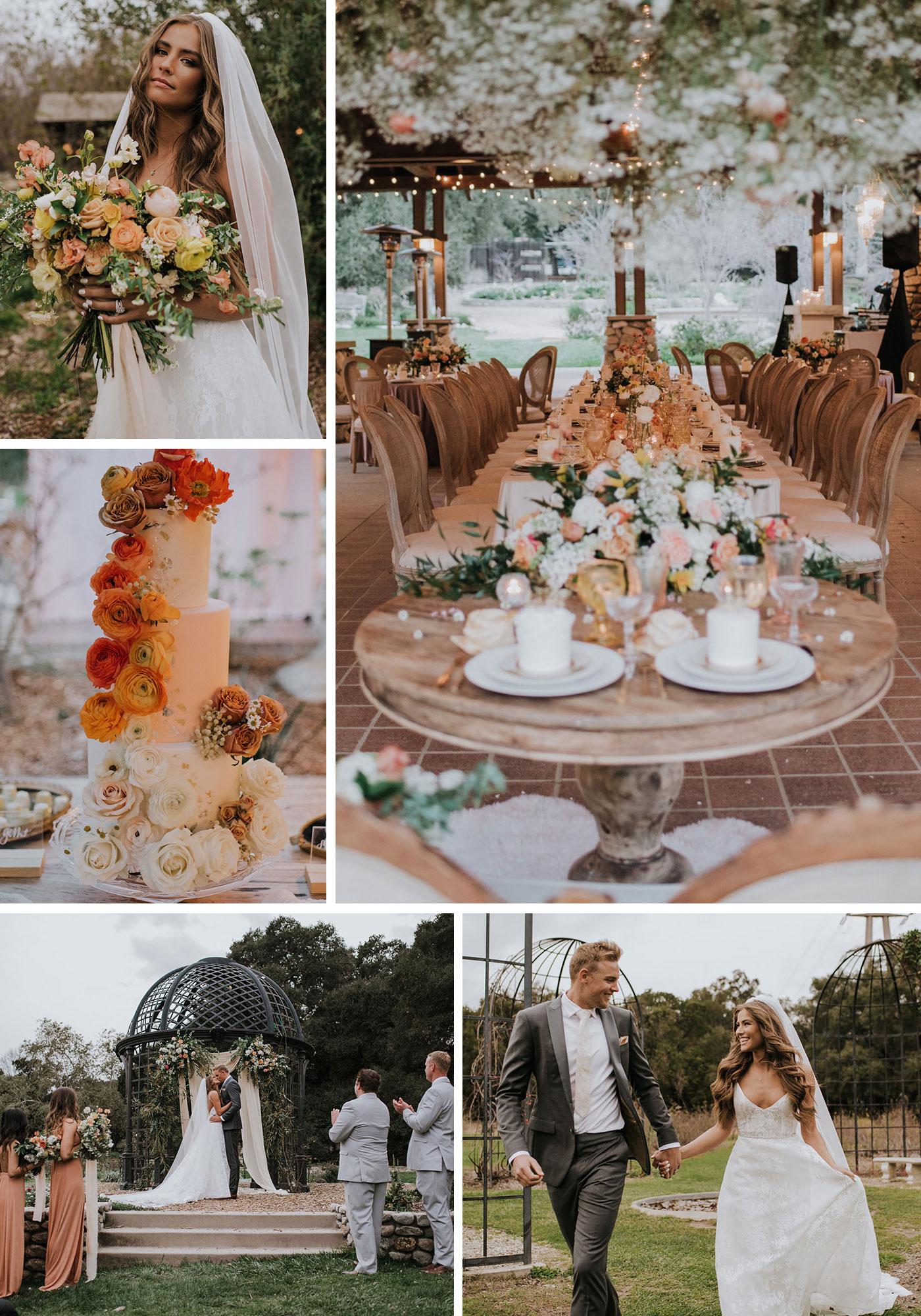 Jamie Kidd + Blake Mansfield's Vintage Sunset Garden Wedding